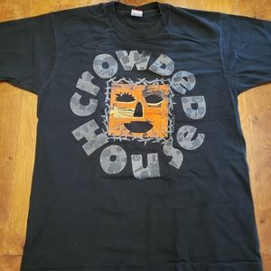Vintage Crowded House 90s concert tour tee shirt